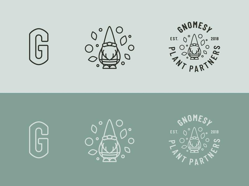 Gnomsey Logo gnome vector icon branding typography illustration logo