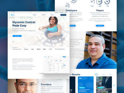 DayTwo Homepage providers control glycemic ui website ux andculture interface homepage design health healthcare microbiome startup blood sugar algorithm patients practitioners science kit