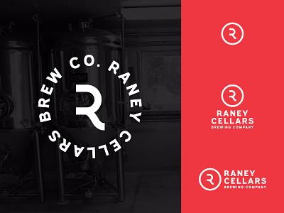 Raney Cellars Brewing Logo design icon typography vector beverage brewery craftbeer drink system pennsylvania millersville branding logo beer brewing cellars