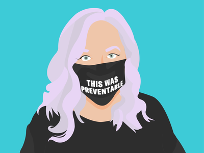 This was preventable self portrait crooked media mask covid vector art vector