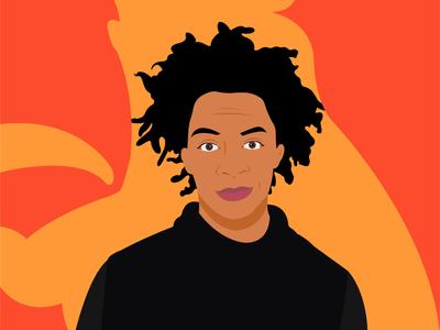 Kara walker illustration portrait vector