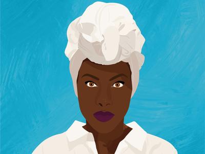 Nola Darling illustration portrait vector art