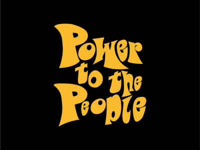 Power to the people lettering black lives matter