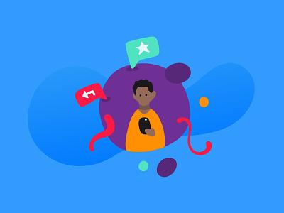 Way finding Illustration 2 app vector illustration character