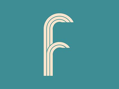 F - 36 days of type identity logos illustrator symbol brand logo stripe design typography letter 36days-f 36daysoftype08 36dayoftype ilustration