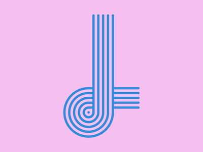 "Letter ""J"" - 36 Days of Type logo dots challenge logotype circle pink illustration mark symbol brand identity 36daysoftype typedesign type typography 36daysoftype08 36days-j letter"