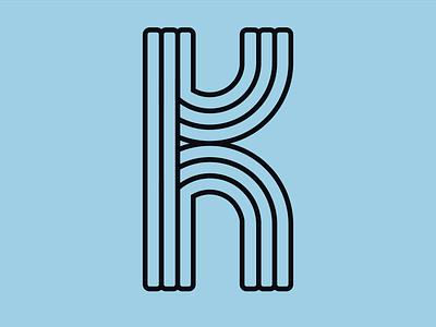 "Letter ""K"" - 36 Days of Type typeface challenge identity mark line 36days-k 36daysoftype type 36daysoftype08 typography letter logo symbol"
