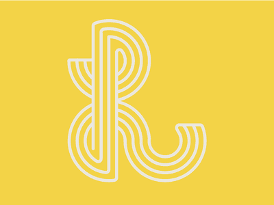 """L"" like Lama - 36 Day of Type logotype lines stroke circle type mark design logo letter typography 36 days of type 36days-l 36daysoftype08"