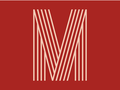 """Red letter """"M"""" - 36 Days of Type challenge lettermark letter 36daysoftype symbol typeface red netflix 36days-m type mark 36daysoftype08 typography logo"""