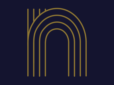 "Art Deco letter ""N"" mark illustration symbol logo letter identity type artdeco typography 36daysoftype08 36days-n 36daysoftype"