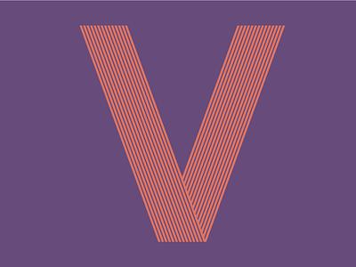 """Letter """"V"""" branding mark symbol brand type typography letter stripe illusion 36days-v 36daysoftype08 36daysoftype"""