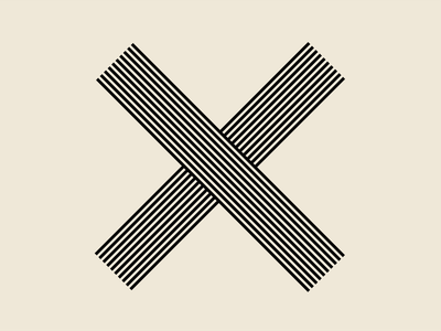 """Letter """"X"""" - 36 days of type stripes strip line symbol type 36daysoftype mark 36days-x x letters typography 36daysoftype08 letter"""