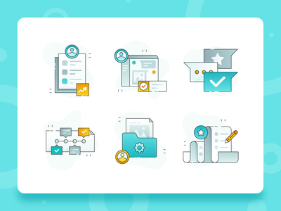 Teamwork Collaboration Icon 2 user interface design illustration web design ux ui teamwork team startup solution productivity problem document icon set icon design icon flat business collaboration blue 2d