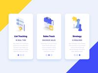 3D UI/UX Services Card - Productivity App analysis landing page clean blue yellow strategy startup finance business teamwork productivity web design mobile features services ux ui illustration 3d c4d