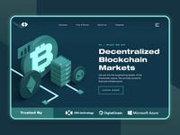Blockchain Cryptocurrency Landing Page UI/UX 2 startup market fintech dark web design ux ui c4d coin money business finance crypto ethereum monero bitcoin cryptocurrency blockchain 3d landing page
