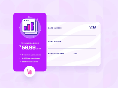 Caballa — Payment Checkout UI/UX Interaction 1 loading illustration mobile ux ui startup online shop e-commerce shopping finance 2d flat pink purple animation form payment method credit card checkout payment