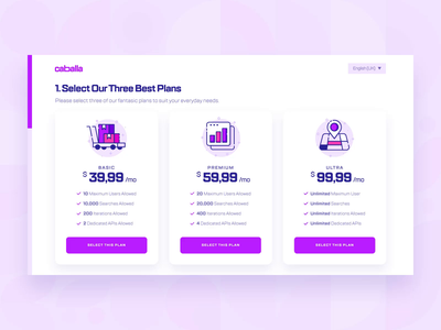 Caballa — Pricing/Payment Checkout UI/UX 3 online shop e-commerce shopping purple flat 2d illustration responsive form checkout icon web design animation ux ui startup finance payment payment method pricing