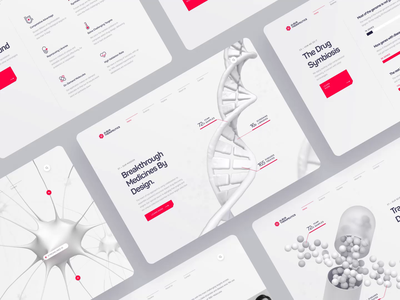 Albus Therapeutics - Web UI/UX Overview drug science healthcare ux ui animation web design neuron startup protein medicine molecule dna 3d red medical health biology chemistry biotech