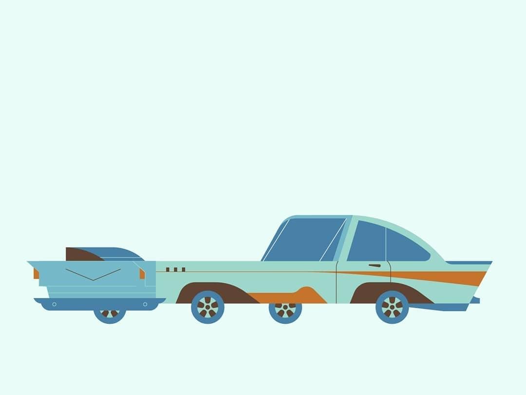 Lowrider Car Illustration logo minimal vehicle vehicle illustration automotive illustration illustration stylized illustration car illustration flat illustration classic car illustration lowrider illustrator hydraulics impala lowrider car lowrider