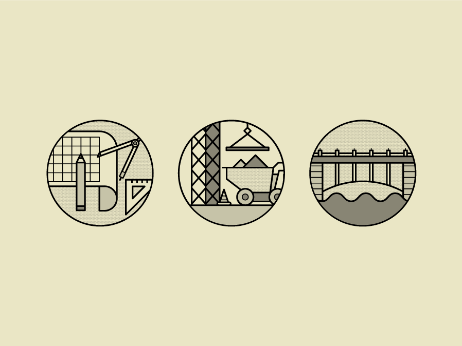 Architecture & Construction Icons #2 minimalism minimal construction logo building construction bridge icon bridges bridge line icon lineart architectural architect blueprint home modern house house icons architecture houses