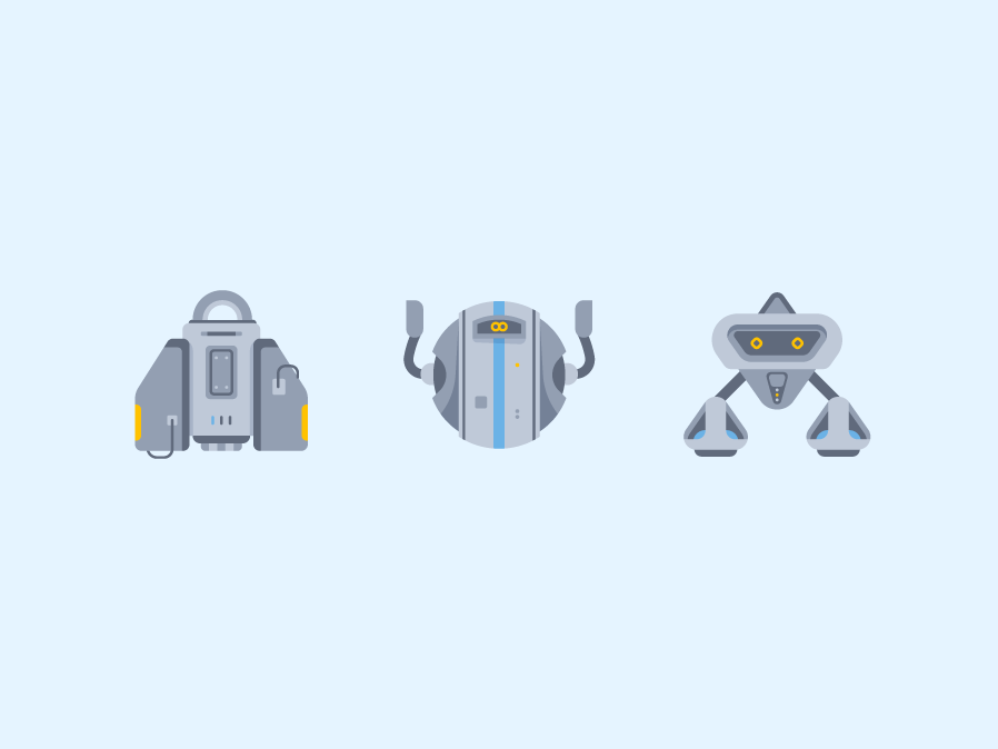 Robots & Android Icon #1 flat illustration flat flat vector logarithm android bot android robot robotics robotic icon set icon minimalism illustration icons synth androids robot bot electronic android robots