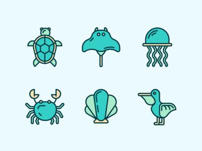 Marine Life Icons 1
