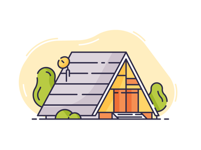 Architecture Shot 1 mansion condo apartment houses flat vector building cabin architecture a frame house icon line 2d ux ui illustration