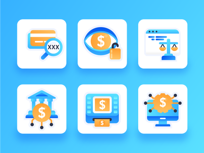 Fintech Icons 1 flat icon blue payment payment method money management cybersecurity credit card money transfer atm bank money 2d ux ui flat icon blockchain cryptocurrency financial technology fintech