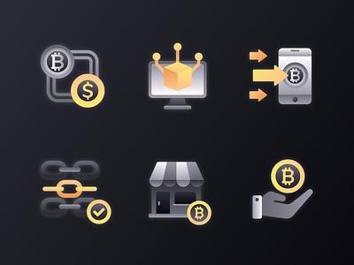 Blockchain Icon 2 money currency wallet fintech finance business finance encryption icon design icon set ux ui flat illustration 2d flat cryptocurrency crypto wallet crypto ethereum bitcoin blockchain