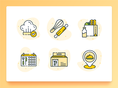 Food Icon 1 milk line icon icon set fork beverage delivery food delivery dinner breakfast cooking chef flat ux ui 2d illustration icon bakery grocery food