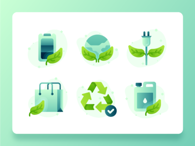Green Energy Sustainability Icon 1 web design icon vector flat icon set icon design illustration ux ui 2d business technology greenhouse recycled paper battery power energy recycle sustainability green energy