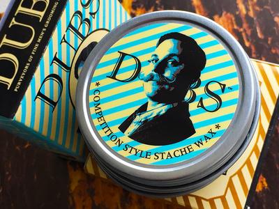 Dubs Stache Wax Mens Grooming Packaging