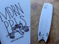 Modern Peoples Surfboard Graphics