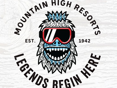 Mountain High Resorts Decorative Logos goggles icons winter logo snowboarder skiing snowman yeti