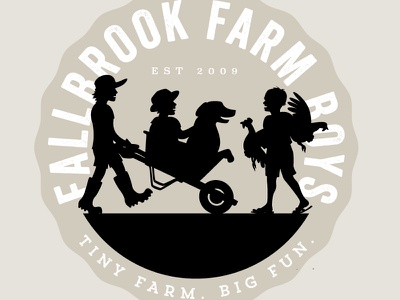 Fallbrook Farmboys Logo illustration logo kids gardening farm