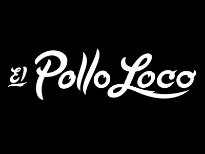 El Pollo Loco Logo Script freelance consumer branding california tacos hand lettering script orange county freelancer illustration nice logo freelance logo designer retro mexican food restaurant branding qsr