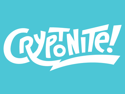 Crypto Podcast Logo concept - tweaked freelance energy bolt font cartoon script hand crypto