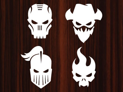 Team hot wheels skull icons