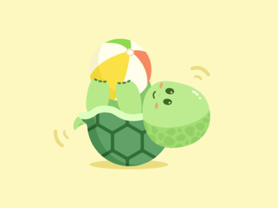 Ball tortoise tortoise ball cute amimals mirocat illustration