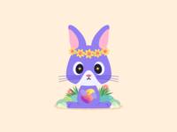 Rabbit vector cute amimals design mirocat illustration