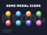 Medal icons colors ui mirocat icon design illustration