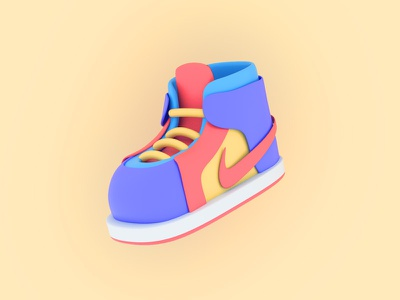 New shoes c4d cute mirocat icon design illustration