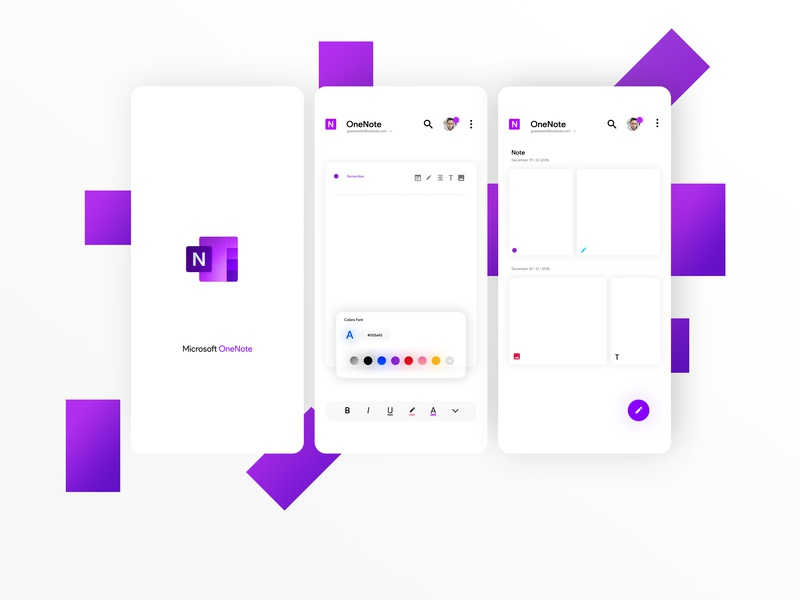 New Microsoft OneNote - Concept  by Gustavo Soares  on Dribbble