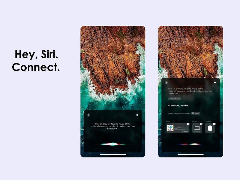 Hey Siri Connect  by Gustavo Soares  on Dribbble