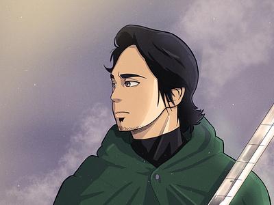 Attack on Titan Art Style (Human Form) vector illustration character illustration vector design