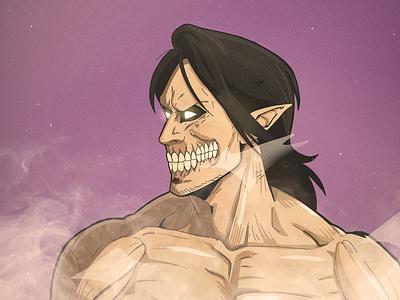 Attack on Titan Art Style (Titan Form) vector illustration character illustration vector design