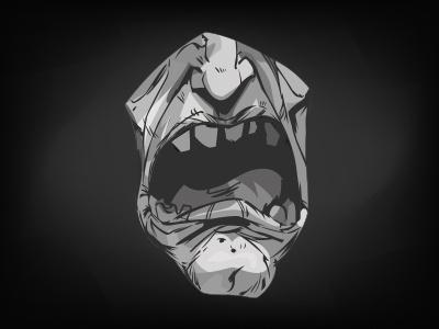 Dubbing character vector design illustration