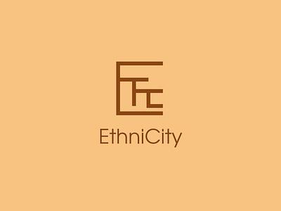 Ethnicity identity design flat logo branding vector
