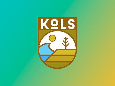 KOLS Badge identity flat character illustration vector design