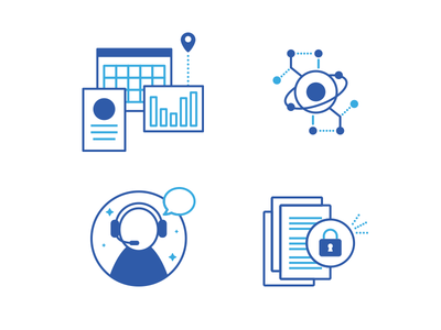 Building Connected - two-toned icons 2-toned icons construction features monochromatic illustration vector hand buildingconnected